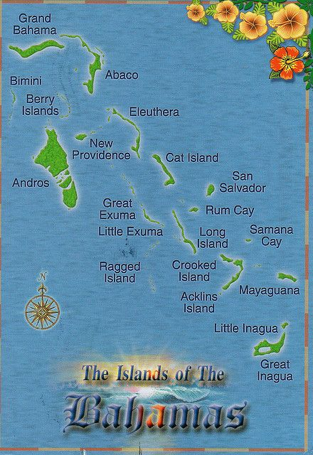 Map of the Bahamas Love #Sailing? #BluefieldsBay offers the perfect, crystal clear seas. Visit us at www.lunaseainn.com