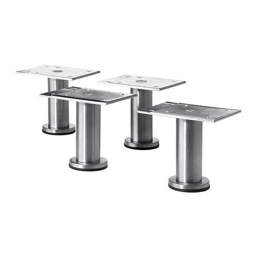 IKEA - CAPITA, Leg, Stands steady on uneven floors because they are adjustable between 8-9 cm.