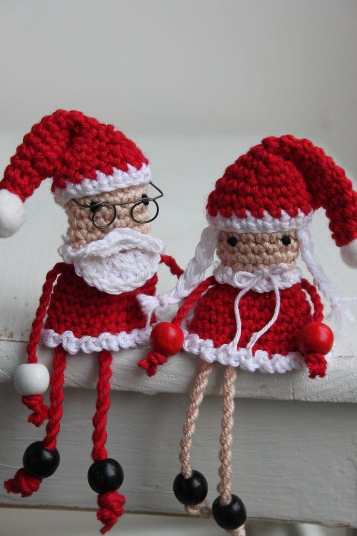 Mr. Mrs. Santa Claus uit inhaken op de feestdagen.
