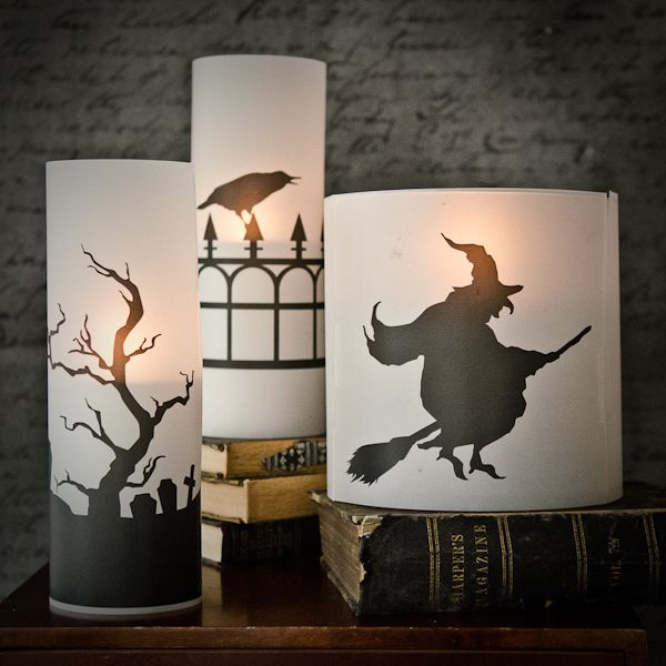 Free Download: Spooky Candle Silhouettes | Somerset Place The Official Blog of Stampington  Company