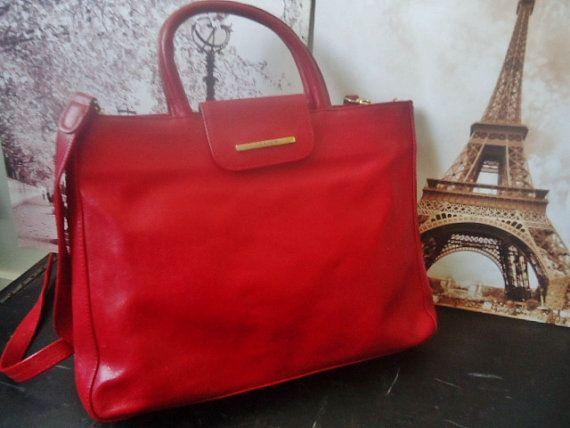 Grand sac à main vintage TEXIER cuir   Sac à par FrenchTouchSoChic