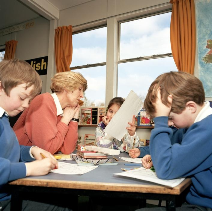 Martin Parr - G.B. ENGLAND. Chew Stoke. Nursery class. 1992.