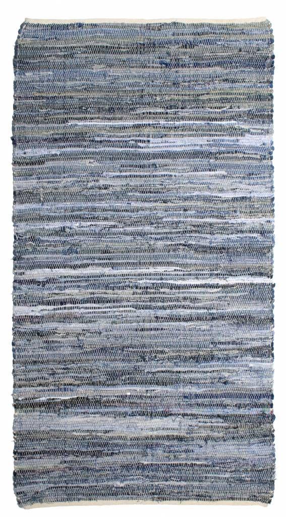 Denim rug HKliving of different colors blue white gray katoen.De colors vary per carpet. Super Nice price!