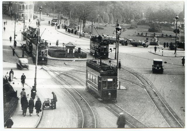 Trams in the Square, Bournemouth, Dorset by Alwyn Ladell, via Flickr