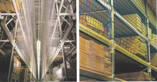 A magasban elhelyezett áruk biztonságát a megfelelően kifeszített hálók szavatolják.  http://a-necc.hu/raktarozasi-vedohalok.htm