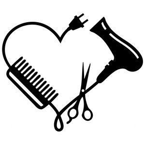 Silhouette Design Store: hair stylist logo