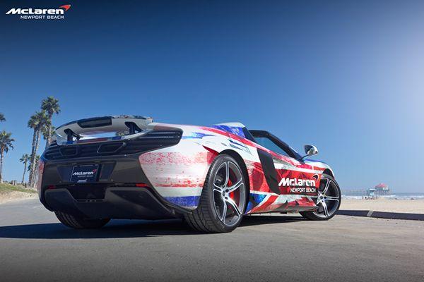 McLaren Newport Beach's Flag-Wrapped 650S Spider on Behance