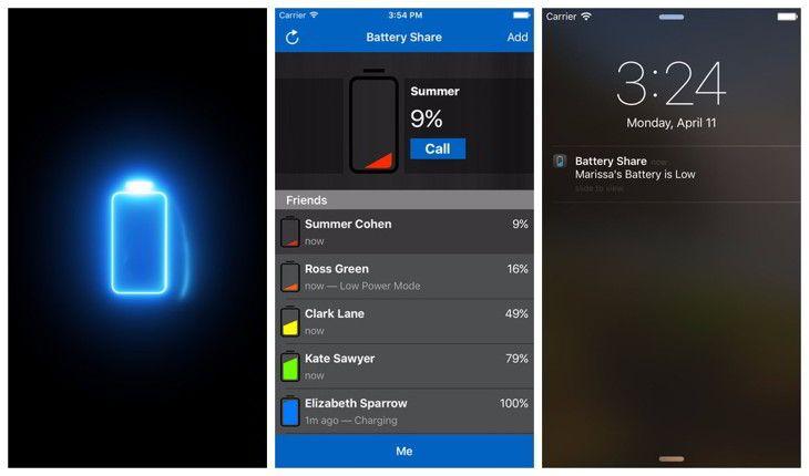Battery Share, avisa tu nivel de bateria en iOS
