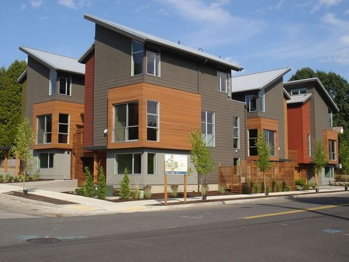 14 best contemporary townhomes images on pinterest for Modern townhouse exterior