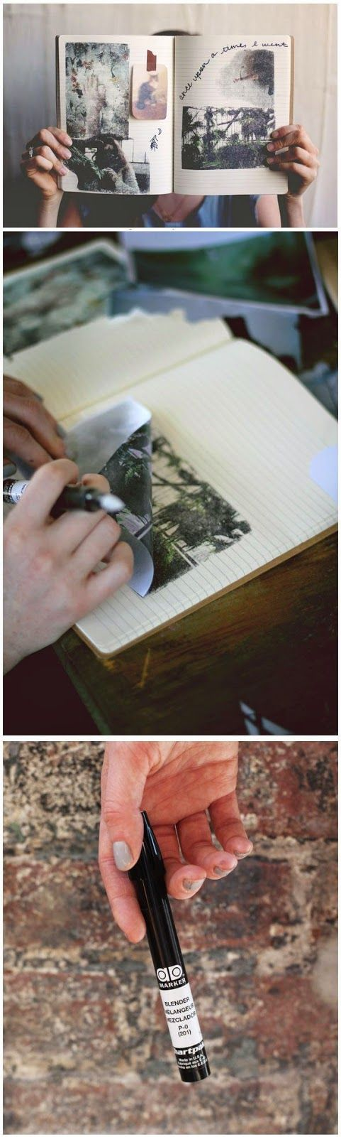 Instant Photo Transfers With Blender Pens