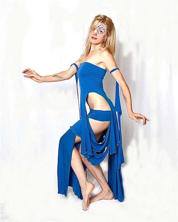 Juliette Maxi jupe tribale Bellydance côtés par AccentuatesClothing