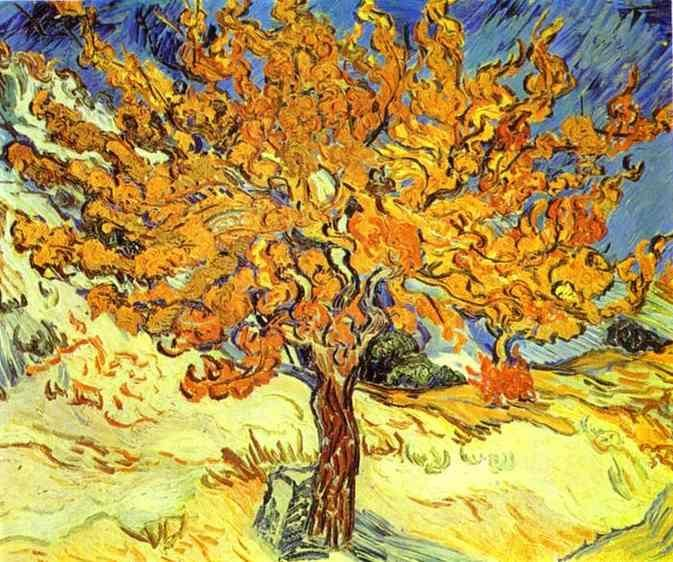 Van Gogh Mulberry Tree. I love the motion in this picture. You can almost feel the breeze.: Vincent Of Onofrio, Oil Paintings, Trees Art, Wedding Hair, Oil On Canvas, Vincent Vans Gogh, Art Drawings, Trees Paintings, Mulberry Trees
