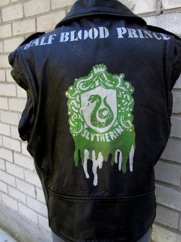 slytherin greaser jacket, this makes me laugh like a loon...