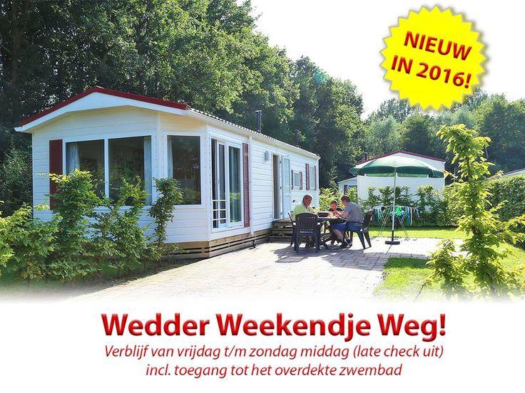 """Vanaf januari te boeken! Het """"Wedder Weekendje Weg"""" incl. welkomstdrankje, gratis parkeren en toegang tot het verwarmde en overdekte zwembad grin-emoticon! #wedderbreak #luxechalet #zwemmen   Maandag gewoon weer aan het werk? Voor slechts 149*,- boek je al een heerlijk weekendje weg van vrijdag (aankomst naar keuze vanaf 10.00) t/m zondag middag (late check uit)! #ideaal"""
