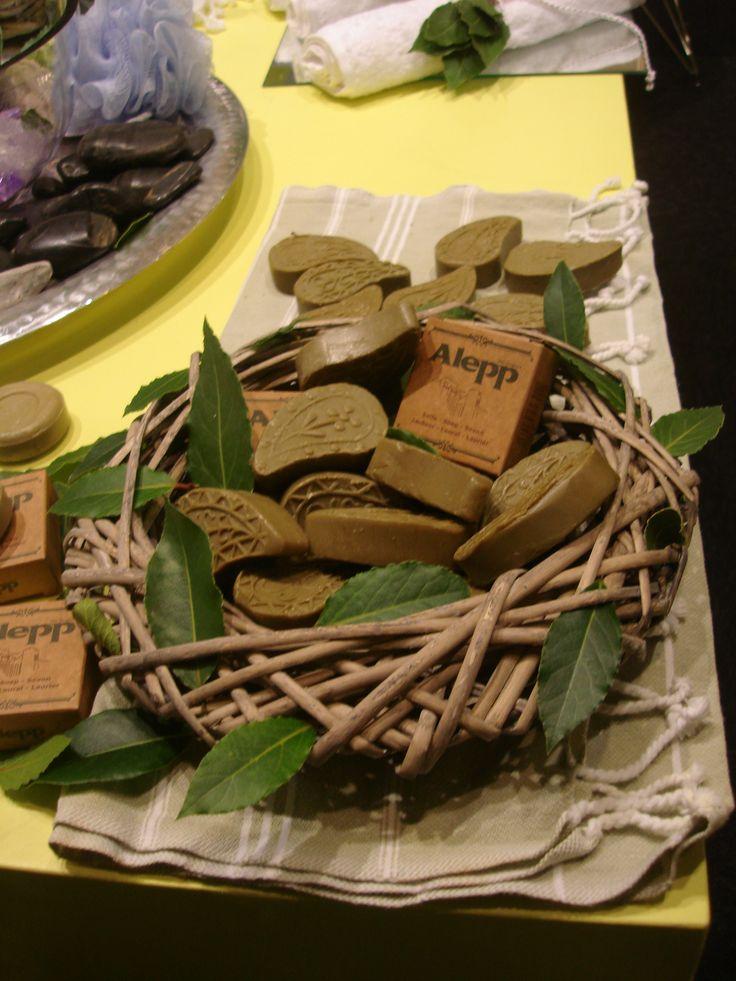 Laurus nobilis (bay tree, bay laurel) soaps