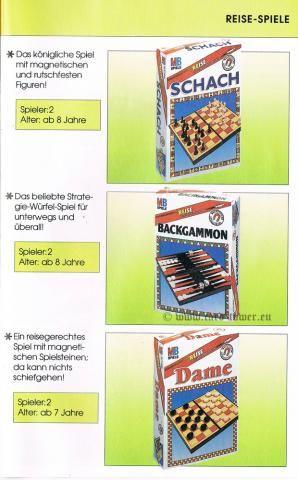Schach (Reise), Backgammon (Reise), Dame (Reise)