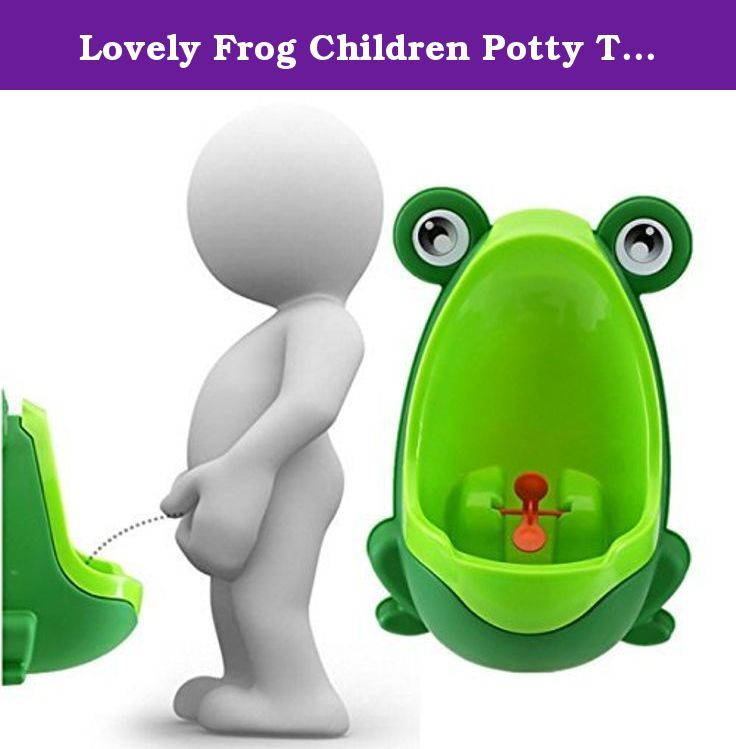 Lovely Frog Children Potty Toilet Training Kids Urinal for Boys Pee Trainer Bathroom (Green and Green). Environmentally friendly material, nontoxic and no peculiar smell. Urine groove separation design and light surface makes the item easy to clean. Lovely frog shape and rotating windmill improves your babies' interest and trains they pee by themselves. Strong sucker can adjust the height of the item according to babies' needs. Large capacity ensure the urine will not overflow.