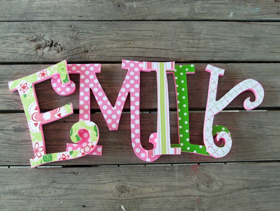 36 best images about wooden letter ideas on pinterest for Small wooden letters for crafts