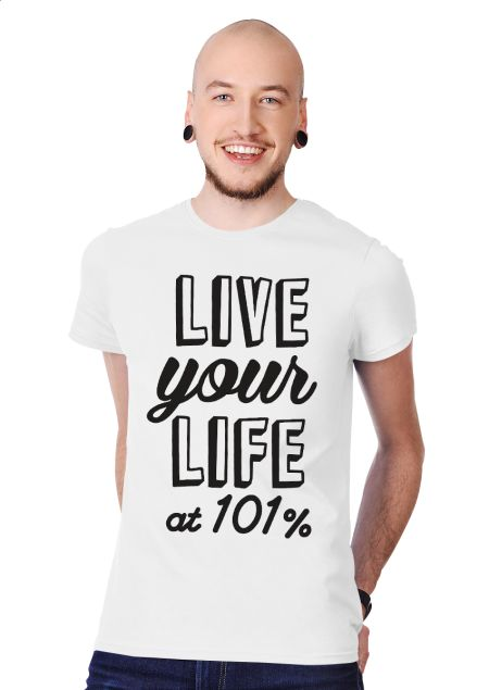 At 101% Men's Slim Fit T-shirt Design by ejmadziu | Teequilla | Teequilla