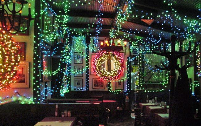 Nyc bars and restaurants with crazy christmas decor
