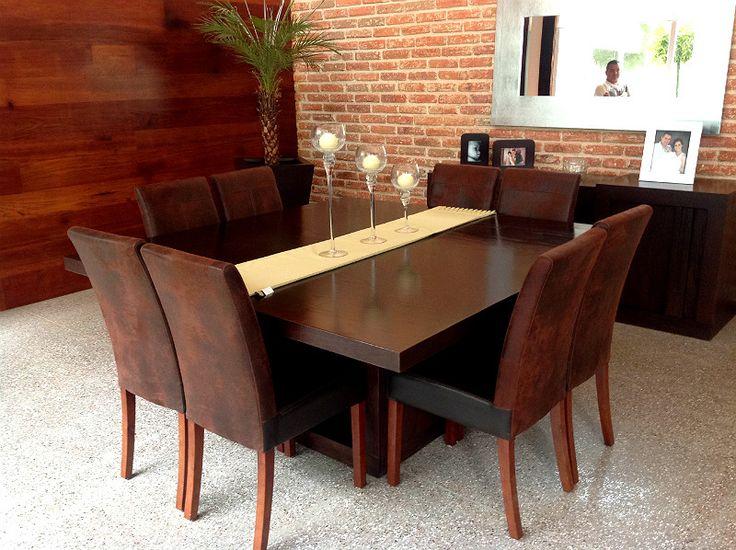 17 mejores ideas sobre juegos de comedor modernos en for Comedor 8 sillas madera