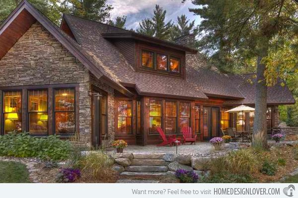 20 Different Exterior Designs of Country Homes | Home Design Lover  love the windows and porches - would like to see floor plan.