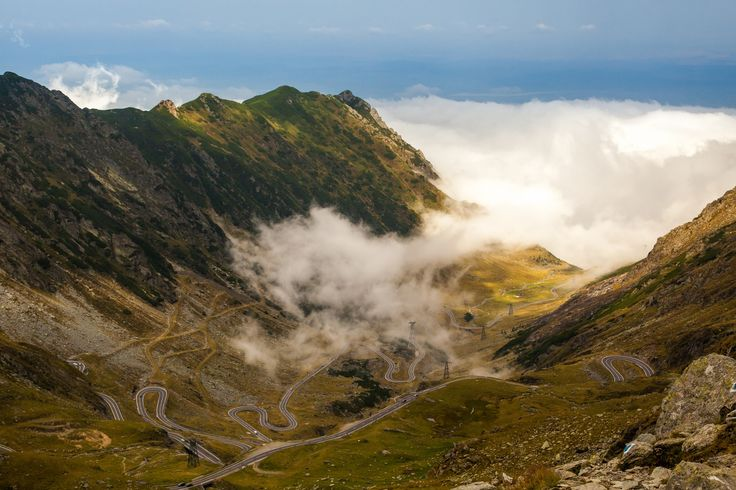 The road above the clouds...Transfagarasan, amazing place in the Carpathian Mountains