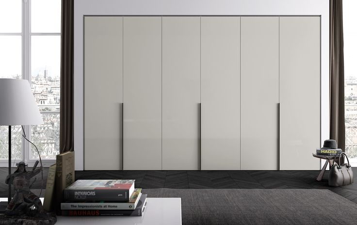 PLANA battente a sei ante in laccato lucido nuvola | With six wing doors in nuvola high gloss lacquered finish | PIANCA | www.pianca.com