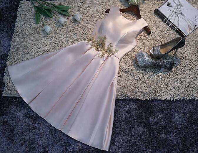 Elegant Womens  Bridesmaid Gown Mini Wedding Dress Homecoming Prom Short Gown