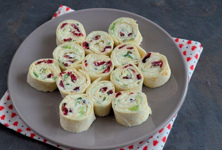Cranberry feta wraps