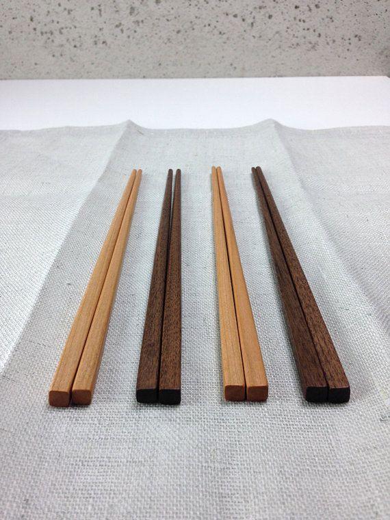 Walnut Cherry wooden Asian chopsticks / wood / by March8studio