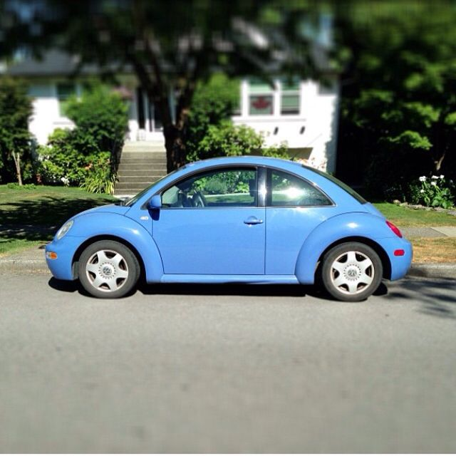 Love this Periwinkle Blue VW Beetle. Can you say ...