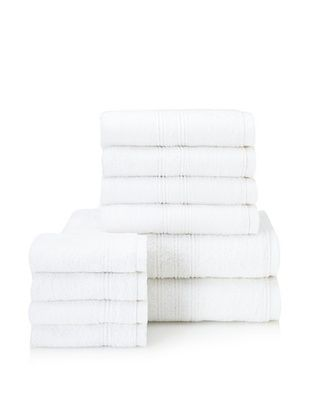 66% OFF Chortex 10-Piece Imperial Bath Towel Set, White