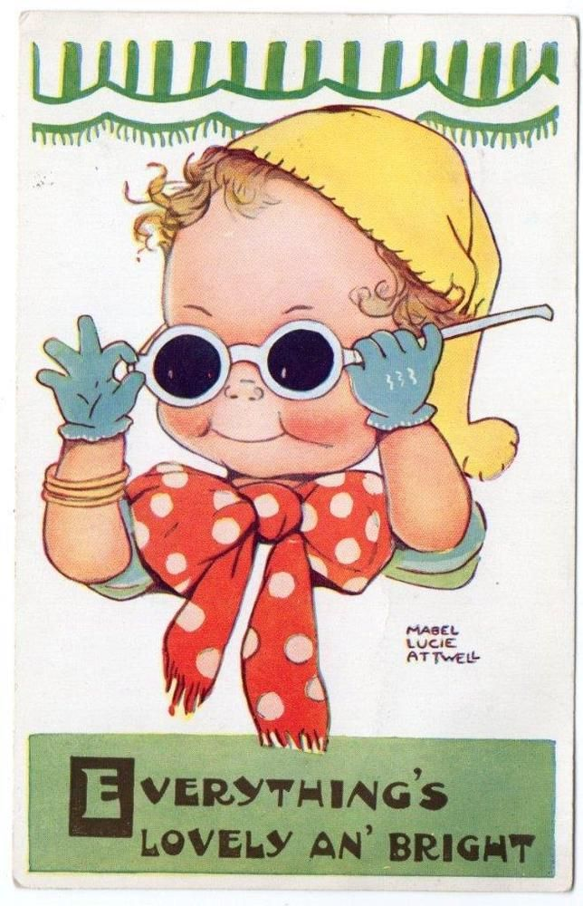 1956 MABEL LUCIE ATTWELL Lovely and Bright No 5224 Postcard | eBay