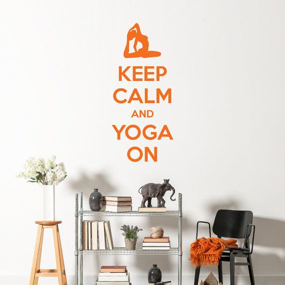 Keep Calm and Yoga On is the perfect wall sticker decal to place around a yoga studio or any room of your home. It would look great on a gym