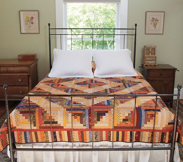 Additional Images of Heirloom Log Cabin Quilt Kit by Connecting Threads - ConnectingThreads.com