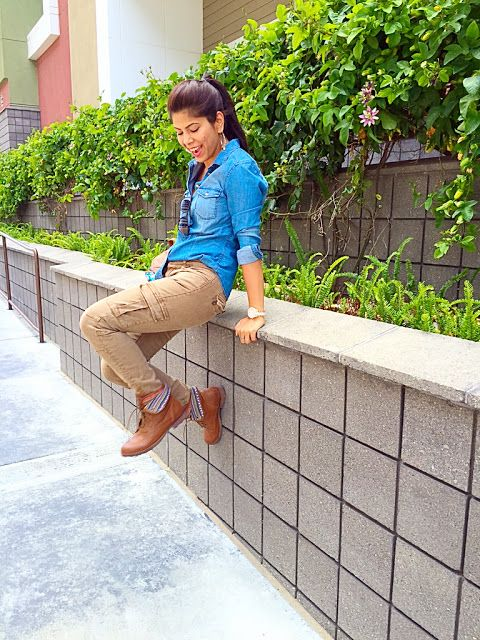 California summers in #DenimShirts Trends: www.fashupwithshivani.com