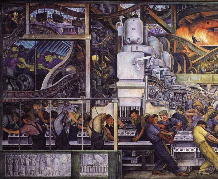 1000 images about the factory on pinterest lincoln for Detroit mural factory