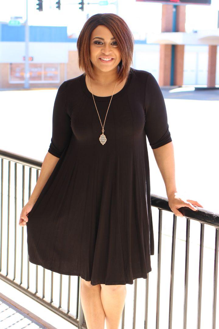 One Faith Boutique - Simple Attraction Relaxed Fit Dress ~ Black ~ Sizes 12-18, $33.00 (https://www.onefaithboutique.com/new-arrivals/simple-attraction-relaxed-fit-dress-black-sizes-12-18/)