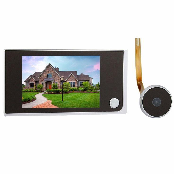 """3.5 """"Video Intercom TIVDIO Digital LCD Pintu Viewer 2.0 Megapixel Kamera Pintu Interkom Monitor Untuk Keamanan Rumah F4344A"""