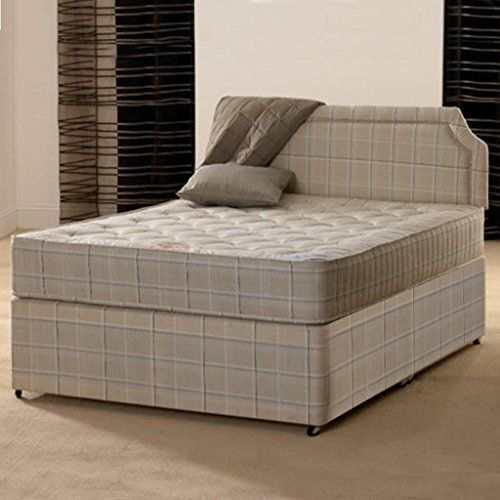 From 149.99 Deluxe Beds Ltd 4ft6 Double Divan Bed Open Coil Orthopaedic 4ft 6