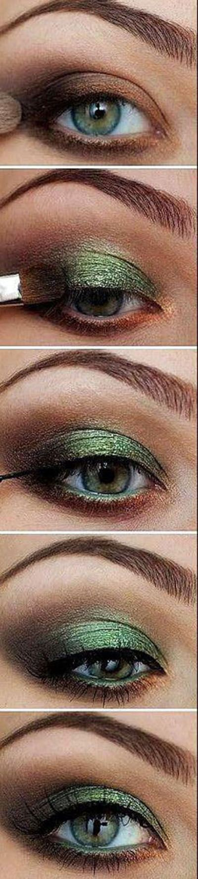 Leaf Green Eye Shadow Tutorial Get this look with Younique! Https://www.youniqueproducts.com/quafran<<<<for when I skate to defying gravity
