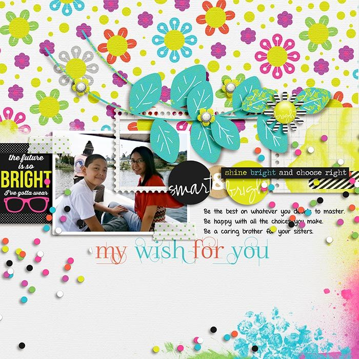 "A Future So Bright by Traci Reed and Juliana Kneipp. ""Layout completed for the Sweet Shoppe Summer Shadowbox contest - August 14th. Come join the digital scrapbooking fun at SweetShoppeDesigns.com!"""