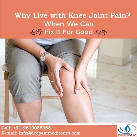 Why Suffer? When you can get rid of it? Don't hesitate to Contact us.... Write to us for a Free No Obligation Opinion.. Visit: http://www.deepammeditours.com/  Follow Us google+ : http://goo.gl/oYKWOu   Twitter: http://goo.gl/wrDSSr   Facebook: http://goo.gl/KSLPi7  #TKR #kneejointproblem #kneereplacement #kneejoint