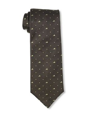 Moschino Men's Mini Block Tie, Brown