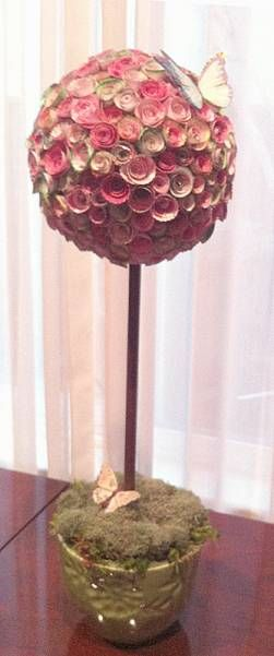 Rolled Rose Topiary by SanFransister - Cards and Paper Crafts at Splitcoaststampers