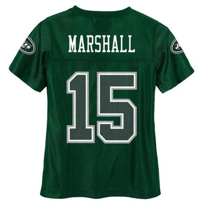 New York Jets Girls' Brandon Marshall Glitter Numbers Jersey - Team Color XS, Multicolored