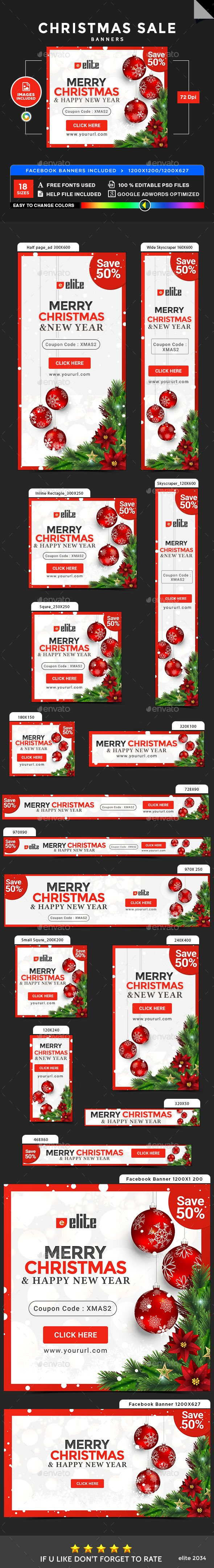 Christmas Banners - Image Included - Template PSD #ads #xmas #web