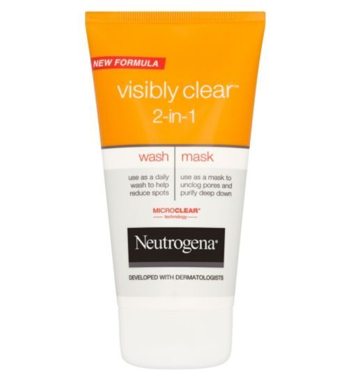 Neutrogena Visibly Clear 2 in 1 Wash and Mask 150ml ...