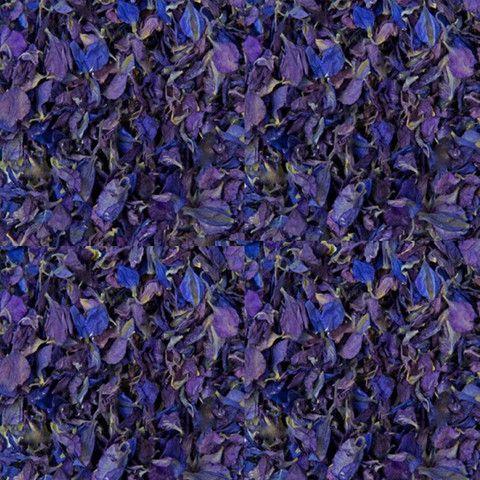 Deep Blue / Purple Freeze Dried Delphinium Petals